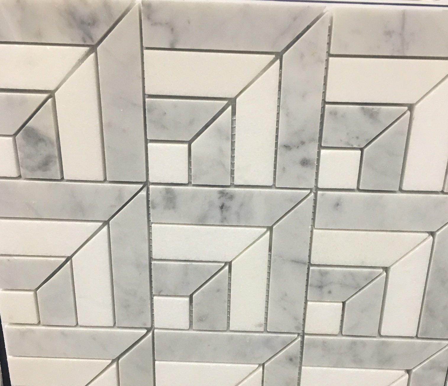 Square strip mosaic