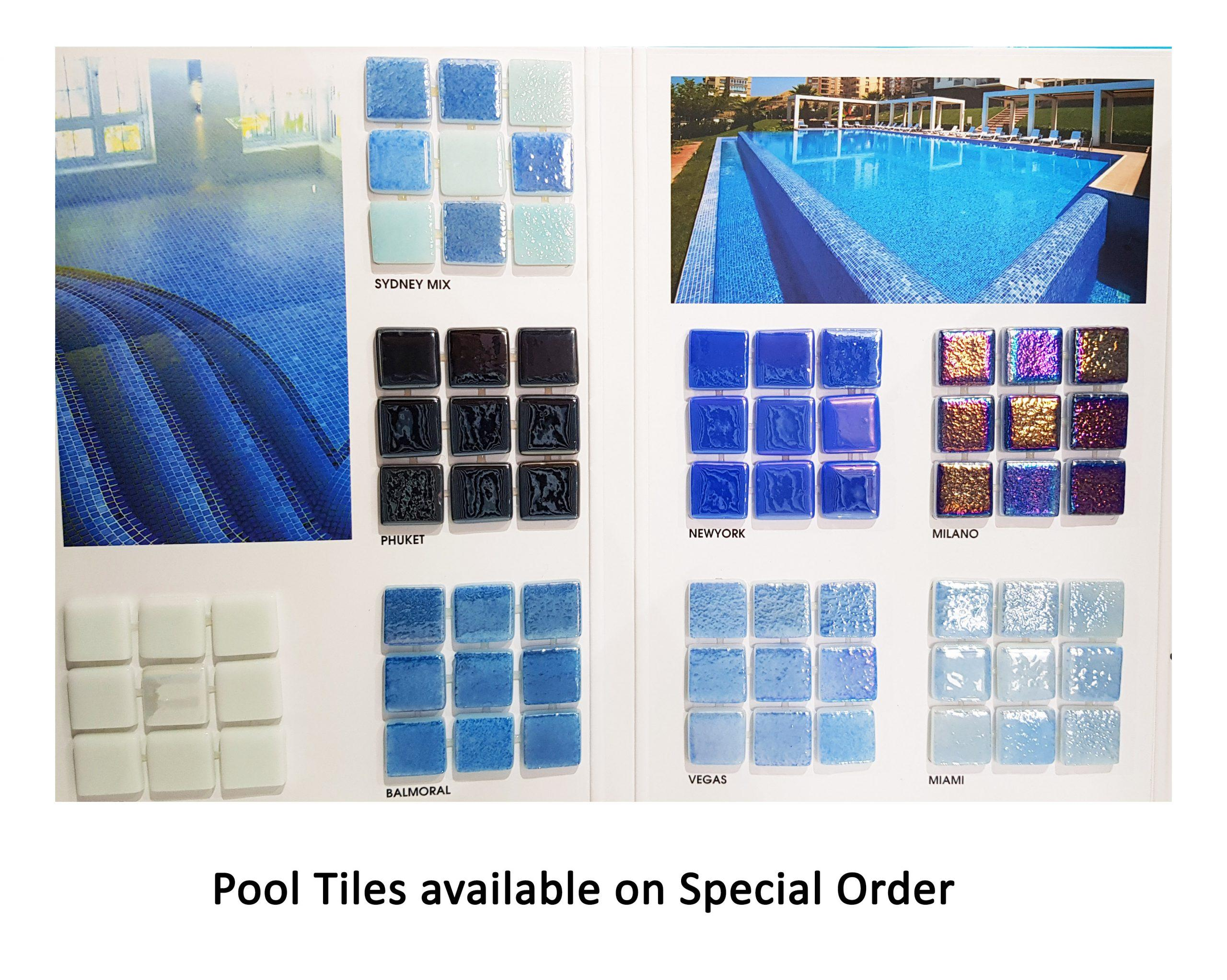 Pool tiles – Special order