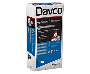 DAVCO SANITIZED COLOR GROUT 15KG